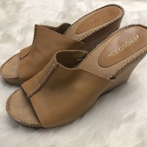 59fac7a85ef9 AEROSOLES Shoes - Aerosoles Leather Wedge Sandals - Birthstone